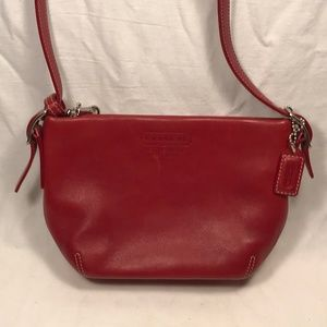 Coach Leatherware Red Leather Baguette, Wristlet
